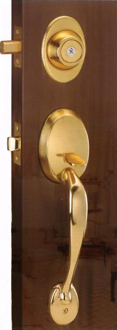 TPY-5902PB 大把銅製門鎖(黃銅色)